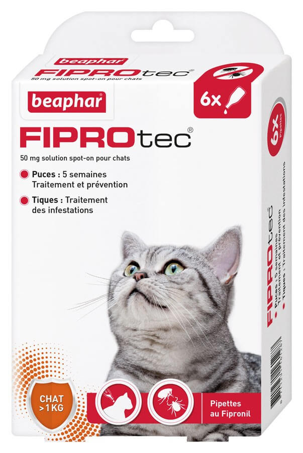 Fiprotec chat 6 pipettes