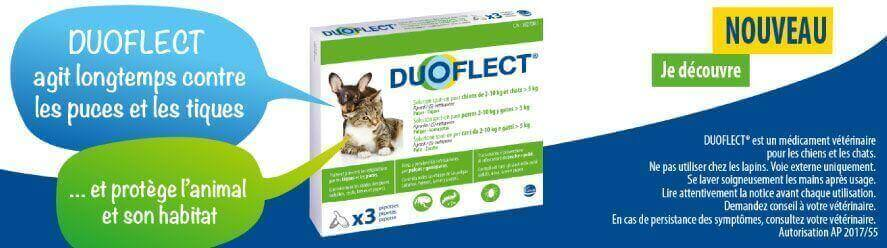 Duoflect : Solution spot-on pour chiens et chats