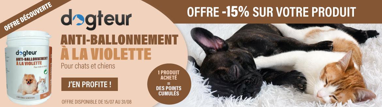 Offre -15 % Dogteur Anti-Ballonnement