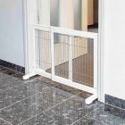 Trixie barrière extensible en bois blanc pour chiens - La Compagnie des Animaux