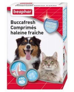 Beaphar Buccafresh, comprimés haleine fraîche pour chien et chat 40 cps