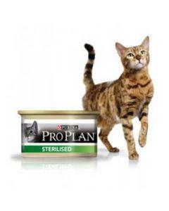 Purina Proplan Cat Sterilised Saumon 18 boite de 85 grs + 6 offertes - La Compagnie des Animaux