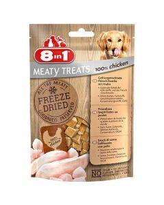 8in1 Freeze Dried Meaty Treats 100 % blanc de poulet pour chien 50 g