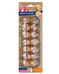 8in1 Triple Flavour Os XS pour chien x7
