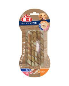 8in1 Triple Flavour Sticks torsadés pack de 10