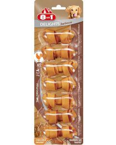 8in1 Delights Barbecue XS pour chien x7 - La Compagnie des Animaux