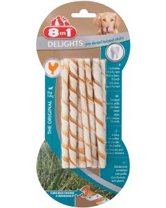 8in1 Delights Twisted Sticks Pro Dental XS pour chien x10 - La Compagnie des Animaux