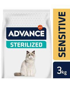 Advance Sterilized Sensitive Chat au saumon 3 kg- La Compagnie des Animaux