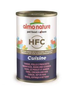 Almo Nature Chat HFC Thon, Poulet et Jambon 24 x 140 grs- La compagnie des animaux