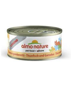 Almo Nature Chat Legend Thon avec crevettes 6 x 70 grs - La compagnie des animaux
