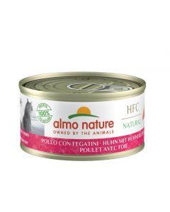 Almo Nature Chat Natural HFC Poulet avec foie 24 x 70 grs