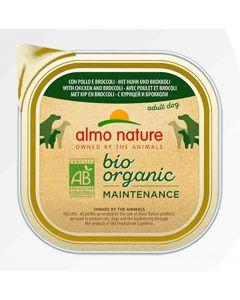Almo Nature Chien Bio Organic Maintenance poulet et brocoli 9 x 300 grs