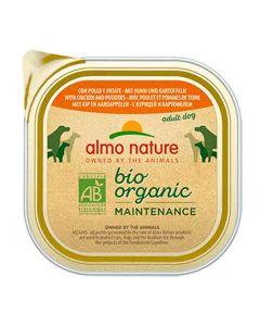 Almo Nature Chien Bio Organic Maintenance poulet et pommes de terre 9 x 300 grs