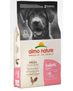 Almo Nature Holistic Chien Puppy Medium Poulet frais 12 kg