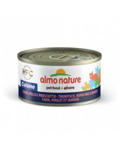 Almo Nature Chat Cuisine HFC Thon, Poulet et Jambon 24 x 70 grs