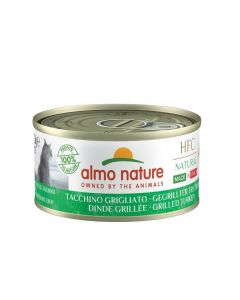 Almo Nature Chat Natural HFC Sans Céréales Made In Italy Dinde Grillée 24 x 70 g