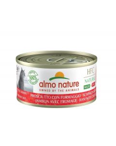 Almo Nature Chat Natural HFC Sans Céréales Made In Italy Jambon Parmesan 24 x 70 g