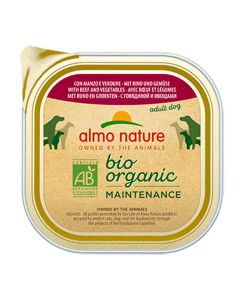 Almo Nature Chien Bio Organic Maintenance boeuf et legumes 9 x 300 grs