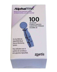 AlphaTRAK 100 lancettes stériles calibre 28- La Compagnie des Animaux