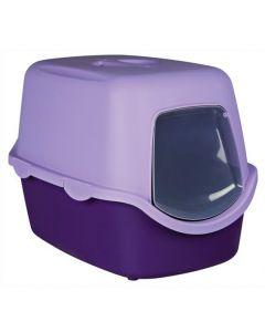 Trixie Bac à litière Vico 40 x 40 x 56 cm lilas / mauve