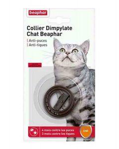 Beaphar Collier Dimpylate contre puces et tiques pour chat marron