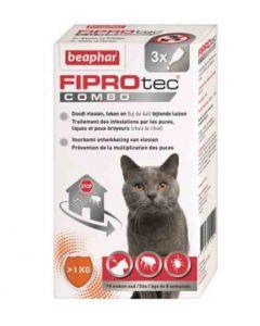 Beaphar Fiprotec Combo chats et furets 3 pipettes- Dogteur