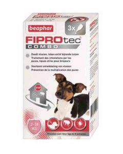 Beaphar Fiprotec Combo petits chiens 2-10 kg 3 pipettes- La Compagnie des Animaux