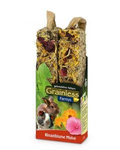 JR Grainless Farmys snack rose trémière & mauve - La Compagnie des Animaux