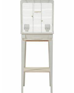 Zolux Cage Chic Loft Blanche pour oiseaux M