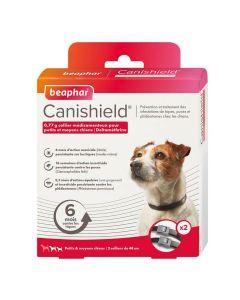 Beaphar Canishield colliers petit chien contre les puces, tiques et moustiques 48 cm x2- La Compagnie des Animaux