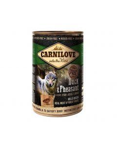 Carnilove Canard et Faisan chien 6x400 g - La Compagnie des Animaux