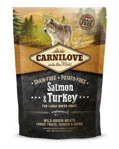 Carnilove Samon et Dinde chien grande race 1,5kg - La Compagnie des Animaux