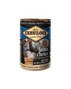 Carnilove Saumon et Dinde chien 6x400 g - La Compagnie des Animaux