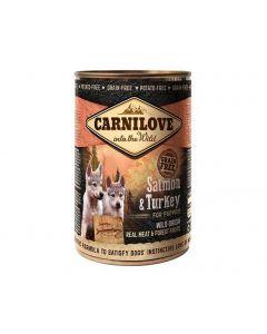 Carnilove Saumon et Dinde chiot 6x400 g - La Compagnie des Animaux