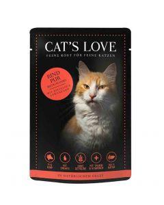CAT'S LOVE Classic Boeuf sachets 12 x 85 g- La Compagnie des Animaux
