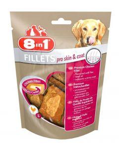 8in1 Fillets Pro Skin & Coat pour chien 80 g MULTIPACK lot de 8
