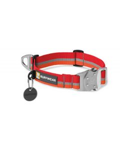Collier Top Rope Ruffwear rouge/orange S