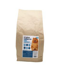 Dogteur Croquettes Premium sans céréales saumon et truite chien adulte petite race 2 kg