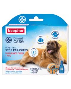Beaphar Diméthicare Stop Parasites 6 pipettes pour chien > 30 kg
