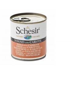 Schesir Thon avec carottes en gelée pour chien
