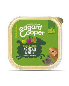 Edgard & Cooper Barquette Agneau et Boeuf pour chien 11 x 150 g - La Compagnie des Animaux