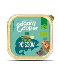 Edgard & Cooper Barquette Bio Poisson Carottes et Fenouil pour chien 17 x 100 g- La Compagnie des Animaux