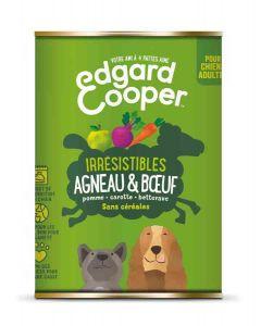 Edgard & Cooper Boite Agneau et Bœuf Chien adulte 6 x 400 g- La Compagnie des Animaux