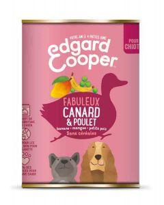 Edgard & Cooper Boite Canard et Poulet Chiot 6 x 400 g - La Compagnie des Animaux
