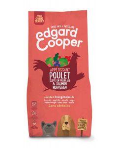 Edgard & Cooper Croquettes Poulet frais & Saumon norvégien sans céréale Chien Senior 12 kg- La Compagnie des Animaux