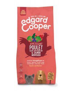 Edgard & Cooper Croquettes Poulet frais & Saumon norvégien sans céréales Chien Senior 7 kg- La Compagnie des Animaux