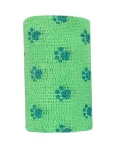 Bandes Cohésives 10 cm Empreinte vert fluo