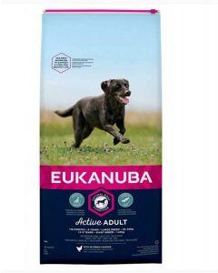 Eukanuba Chien Adult Grande Race Poulet 15 kg - La compagnie des animaux