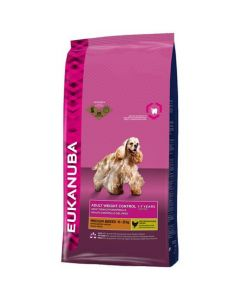 Eukanuba Chien Adult Weight Control Moyenne Race 3 kg - La Compagnie des Animaux
