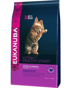 Eukanuba Chaton Healthy Start Kitten 1-12 mois - La Compagnie des Animaux